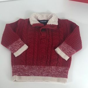 12 month Christmas red sweater